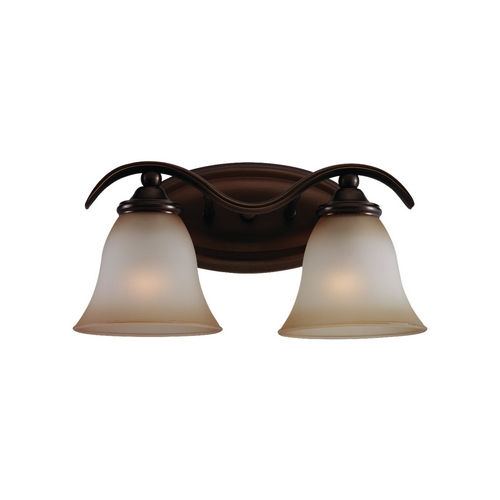 Sea Gull Lighting Bathroom Light with Beige / Cream Glass in Russet Bronze Finish 44360-829