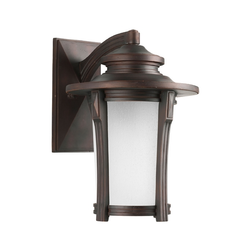 Progress Lighting Progress Outdoor Wall Light with White Glass in Autumn Haze Finish P5982-97