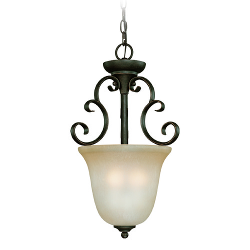 Jeremiah Lighting Jeremiah Barrett Place Mocha Bronze Pendant Light with Bell Shade 24223-MB