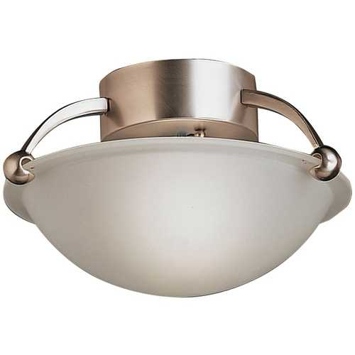 Kichler Lighting Kichler Modern Semi-Flushmount Light in Brushed Nickel Finish 8404NI