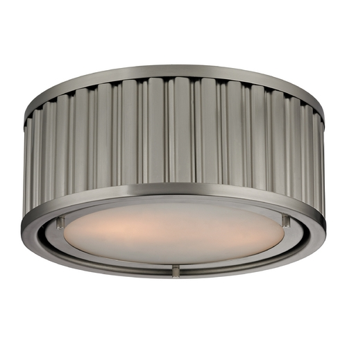 Elk Lighting LED Flushmount Light in Brushed Nickel Finish 46110/2-LED