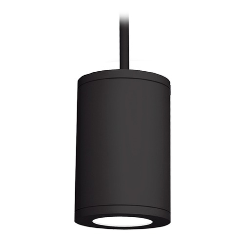 WAC Lighting 8-Inch Black LED Tube Architectural Pendant 3500K 4015LM DS-PD08-S35-BK