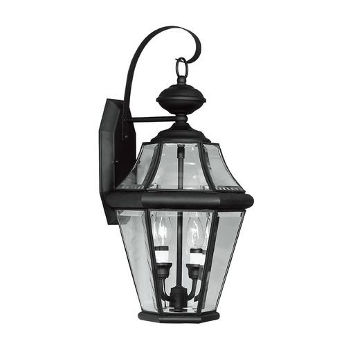 Livex Lighting Livex Lighting Georgetown Black Outdoor Wall Light 2261-04