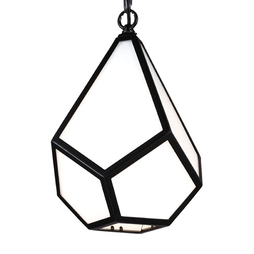 Feiss Lighting Feiss Diamond Black Mini-Pendant Light P1374BK