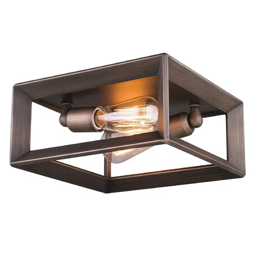 Golden Lighting Golden Lighting Smyth Gunmetal Bronze Flushmount Light 2073-FM GMT