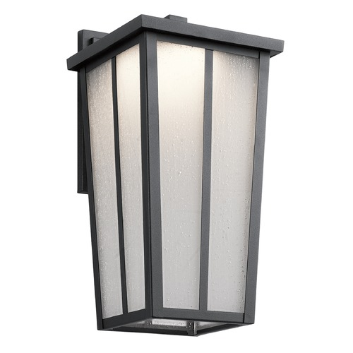 Kichler Lighting Kichler Lighting Amber Valley Textured Black LED Outdoor Wall Light 49623BKTLED