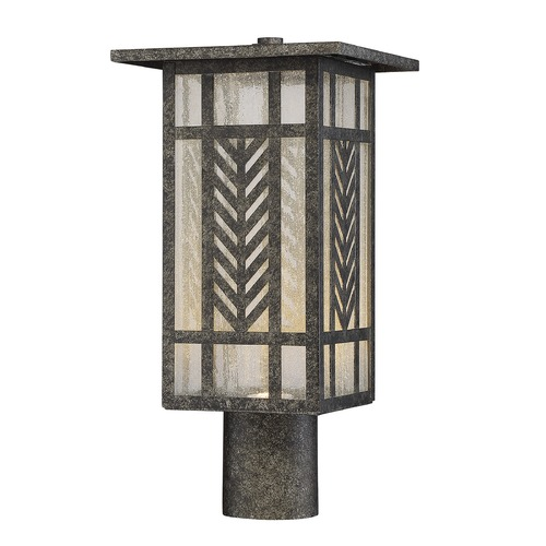 Savoy House Seeded Glass LED Post Light Graphite Savoy House 5-303-78