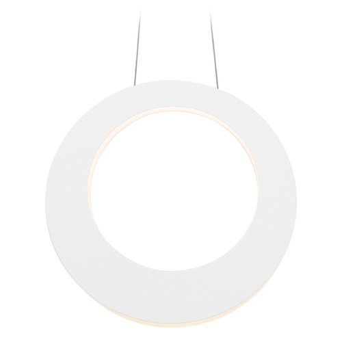 Sonneman Lighting Sonneman Haro Textured White LED Pendant Light 1754.98