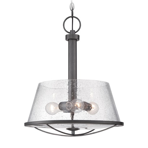 Designers Fountain Lighting Designers Fountain Darby Weathered Iron Pendant Light with Empire Shade 87031-WI