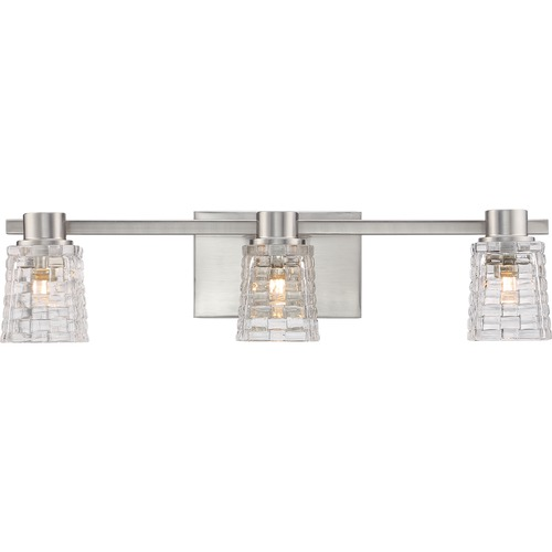 Quoizel Lighting Quoizel Lighting Weave Brushed Nickel LED Bathroom Light WVE8603BNLED