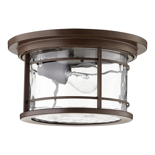 Quorum Lighting Quorum Lighting Larson Oiled Bronze Close To Ceiling Light 3916-11186