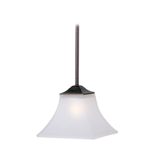 Maxim Lighting Modern Mini-Pendant Light with White Glass 92090FTOI