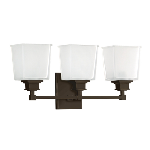 Hudson Valley Lighting Bathroom Light with White Glass in Old Bronze Finish 1953-OB