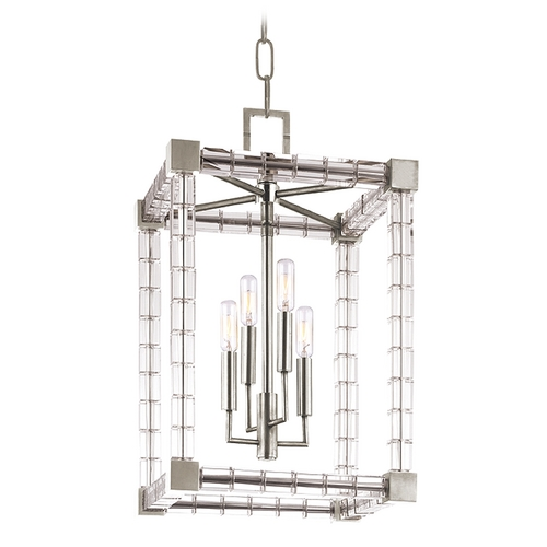 Hudson Valley Lighting Crystal Pendant Light Polished Nickel Alpine by Hudson Valley Lighting 7113-PN