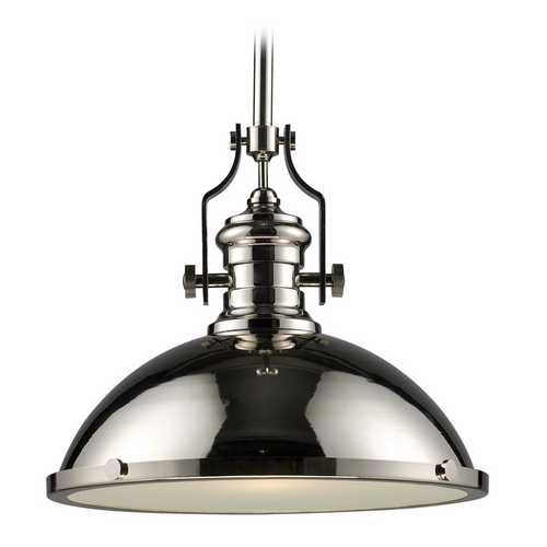 Elk Lighting Nautical Pendant Light in Polished Nickel Finish 66118-1