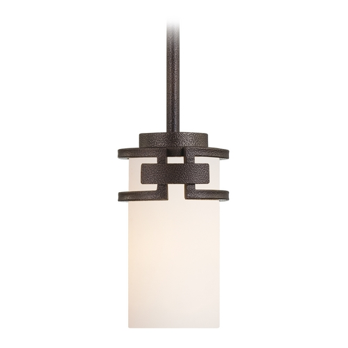 Designers Fountain Lighting Mini-Pendant Light with White Glass 83830-FBZ