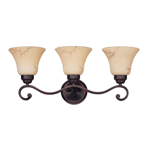 Nuvo Lighting Bathroom Light with Beige / Cream Glass in Copper Espresso Finish 60/1414