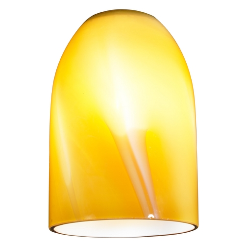 Design Classics Lighting Butterscotch Art Glass Dome Shape Replacement Glass Shade - 1-5/8-Fitter Size GL1022D