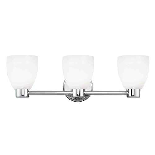 Design Classics Lighting Aon Fuse Chrome Bathroom Light 1803-26 GL1024MB