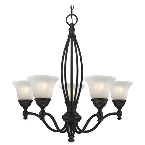 Design Classics Lighting Alabaster Glass Traditional Chandelier - Bolivian Finish 2920-78 GL1032-ALB