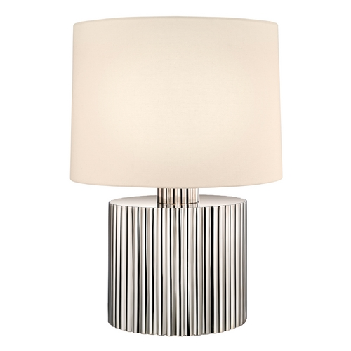 Sonneman Lighting Modern Table Lamp with Beige / Cream Shade in Polished Nickel Finish 4632.35
