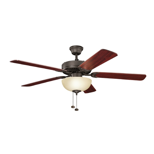 Kichler Lighting Kichler Lighting Basics Revisited Satin Natural Bronze Ceiling Fan with Light 403SNBU