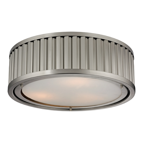 Elk Lighting Flushmount Light in Brushed Nickel Finish 46111/3