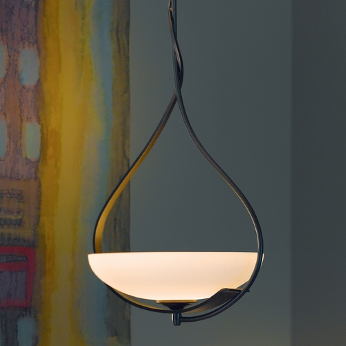 Hubbardton Forge Lighting Hubbardton Forge Lighting Lyra Dark Smoke Pendant Light 137475-07-G215