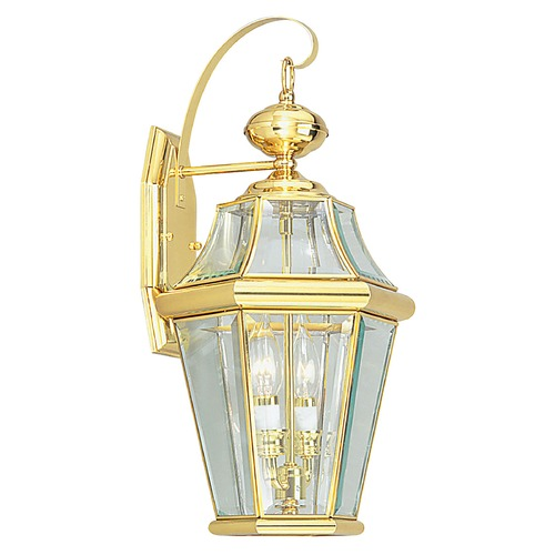 Livex Lighting Livex Lighting Georgetown Polished Brass Outdoor Wall Light 2261-02