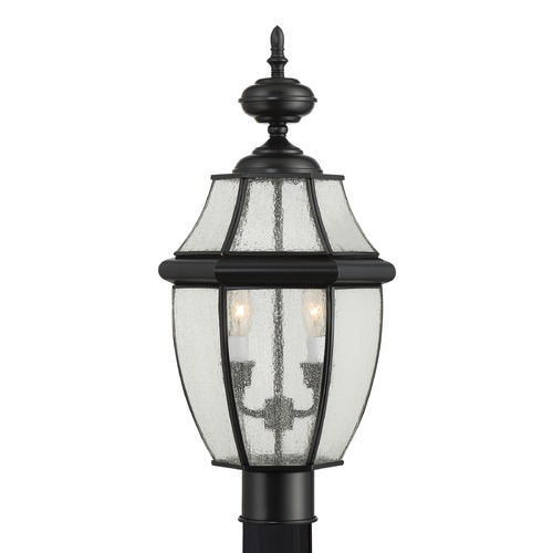 Quoizel Lighting Quoizel Newbury Mystic Black Post Light NY9011K