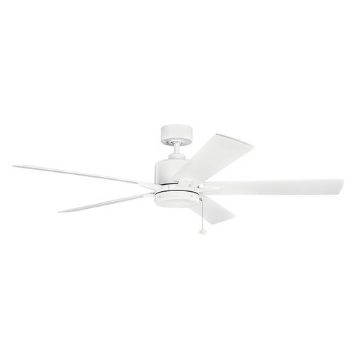 Kichler Lighting Kichler Lighting Bowen Matte White Ceiling Fan Without Light 330243MWH