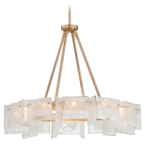 Metropolitan Lighting Metropolitan Arctic Frost Antique French Gold Pendant Light N7287-595