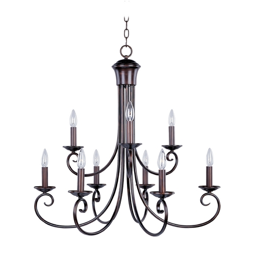 Maxim Lighting Chandelier in Oil Rubbed Bronze Finish 70006OI