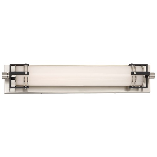 Minka Lavery Minka Lavery Brushed Nickel with Sand Black LED Bathroom Light 241-420-L