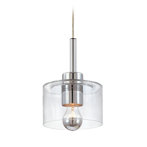 Sonneman Lighting Modern Mini-Pendant Light with Clear Glass 4802.01
