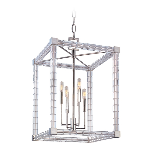 Hudson Valley Lighting Hudson Valley Vintage Crystal Pendant Light in Polished Nickel Finish 7118-PN