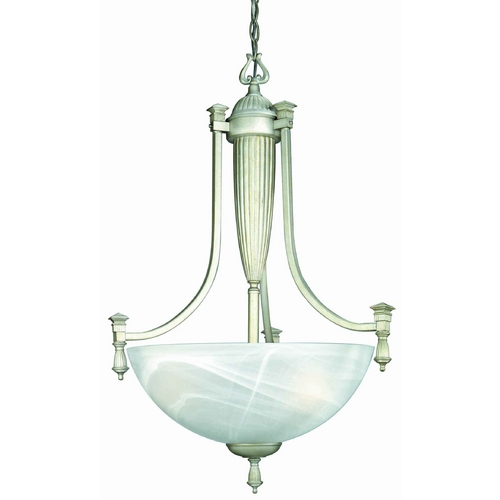 Lite Source Lighting Lite Source Lighting Luxor Pendant Light with Bowl / Dome Shade LS-10583