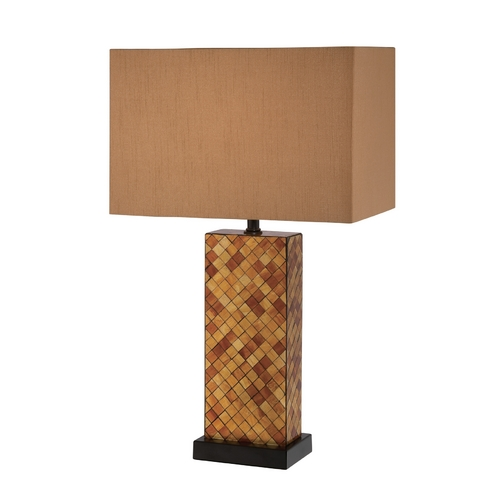 Lite Source Lighting Lite Source Lighting Shelette Black Table Lamp with Rectangle Shade LS-22014