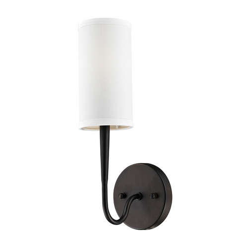 Elk Lighting Modern Sconce Wall Light with White Glass in Oiled Bronze Finish 61040-1