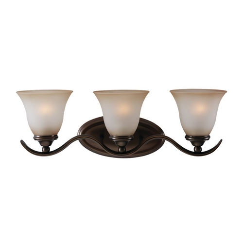 Sea Gull Lighting Bathroom Light with Beige / Cream Glass in Russet Bronze Finish 44361-829