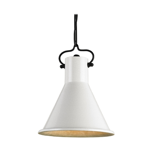 Currey and Company Lighting Mini-Pendant Light with Ivory Shade 9787