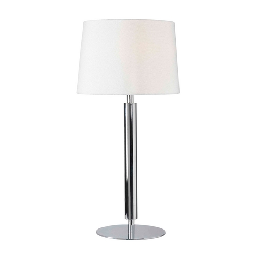 Kenroy Home Lighting Modern Table Lamp with White Shade in Chrome Finish 32134CH