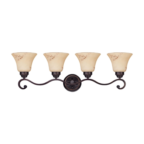 Nuvo Lighting Bathroom Light with Beige / Cream Glass in Copper Espresso Finish 60/1415