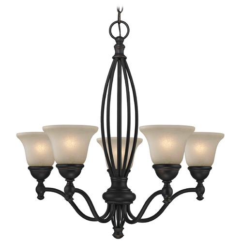 Design Classics Lighting Carmelized Glass Traditional Chandelier - Bolivian Finish 2920-78 GL1032-CAR