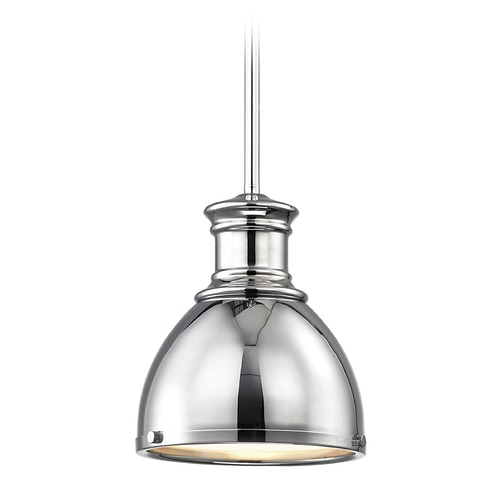 Design Classics Lighting Chrome Mini-Pendant 7.38-Inch Wide 1761-26 SH1775-26