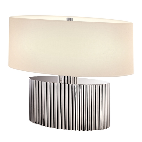 Sonneman Lighting Modern Table Lamp with Beige / Cream Shades in Polished Nickel Finish 4633.35