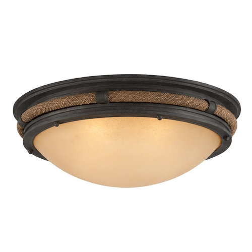 Troy Lighting Troy Lighting Pike Place Shipyard Bronze Flushmount Light CF4122