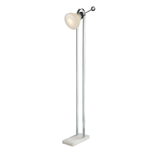 Dimond Lighting Dimond Lighting White, Polished Nickel Floor Lamp D2615