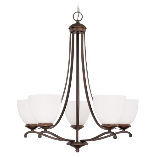 Capital Lighting Capital Lighting Chapman Burnished Bronze Chandelier 3945BB-202
