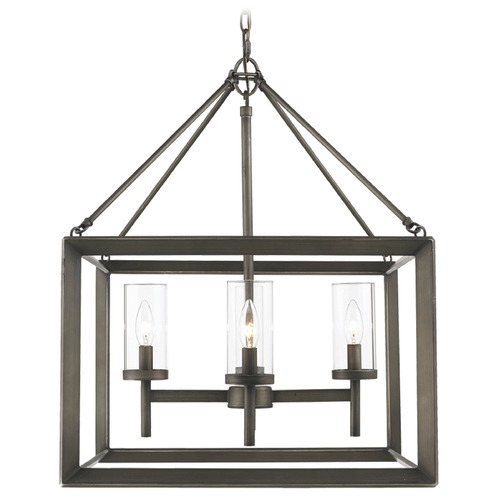 Golden Lighting Golden Lighting Smyth Gunmetal Bronze Chandelier 2073-4 GMT